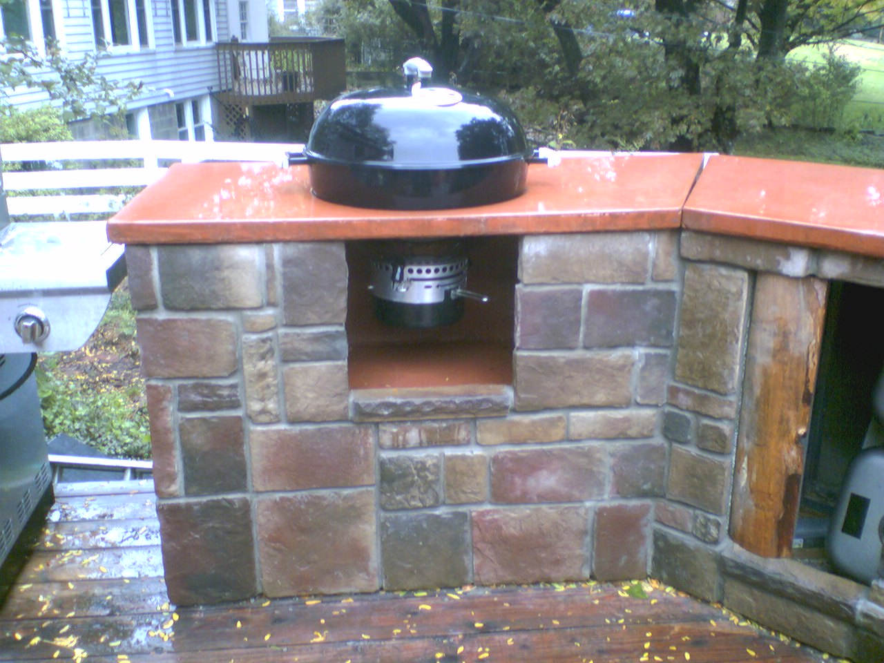 Mounting a weber charcoal kettle in a counter - Custom Built ...